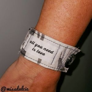 The Beatles Bracelet Cuff All You Need Is Love